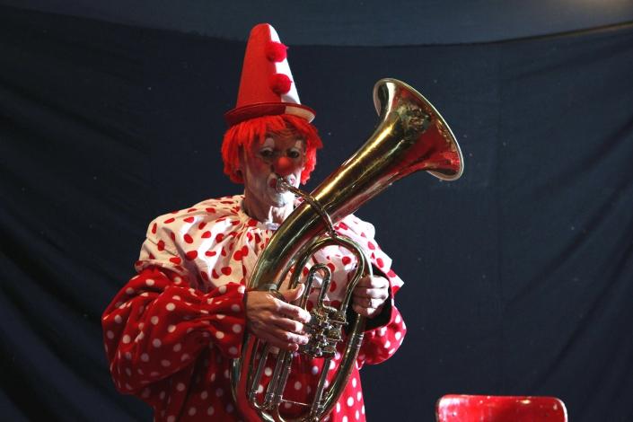 Photo:OLIVER WERNER im Atelier vom Clown fidelidad