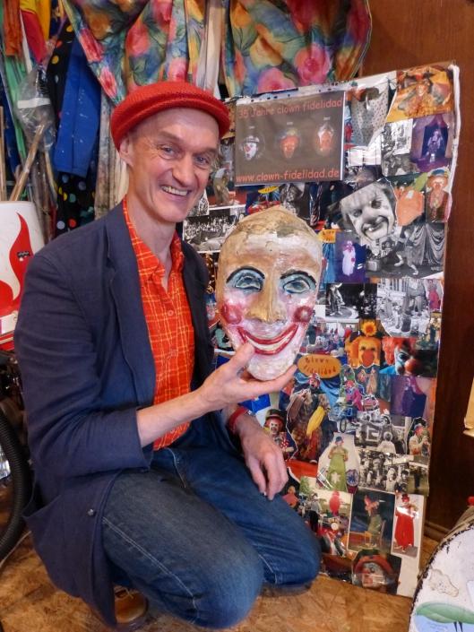 meine erste Theatermaske im ClownAtelier am Lindberghweg